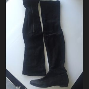 Zara thigh high suede boots size 40